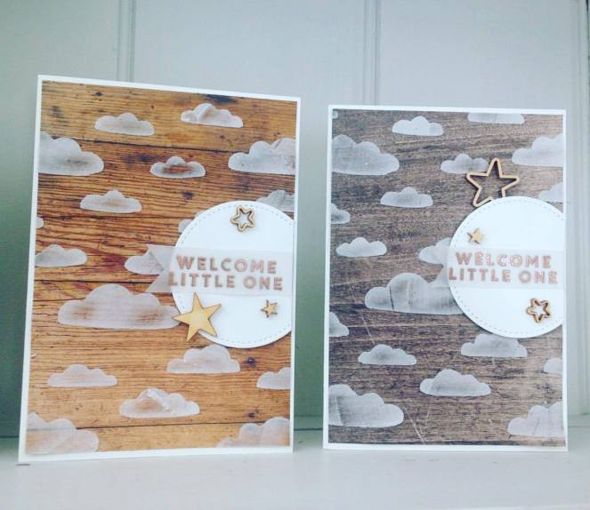 Little One Cloud Baby Cards